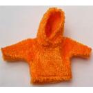 LEGO Orange Scala Clothes Female Fur Sweater with Hood
