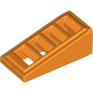 LEGO Orange Slope 1 x 2 x 0.6 (18°) with Grille (61409)