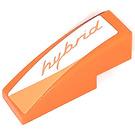 """LEGO Orange Slope 1 x 3 Curved with Orange """"hybrid"""" Logo Right Side Sticker"""