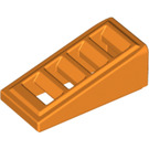 LEGO Orange Slope 18° 2 x 1 x 2/3 Grille (61409)