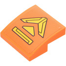 LEGO Orange Slope 2 x 2 Curved with Panel Sticker