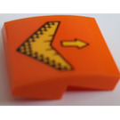 LEGO Orange Slope 2 x 2 Curved with yellow arrows pattern Sticker
