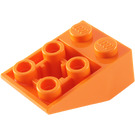 LEGO Orange Slope 25° (33) 2 x 3 Inverted with Connections between Studs (3747)