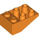 LEGO Orange Slope 25° (33) 2 x 3 Inverted without Connections between Studs (3747)