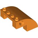 LEGO Orange Slope Curved 4 x 4 x 2 (61487)