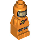 LEGO Orange Spaceman Microfigure