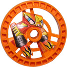 LEGO Orange Technic Disk 5 x 5 (Flame) (32358)