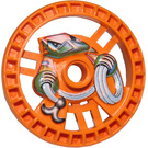 LEGO Orange Technic Disk 5 x 5 (Rope) (32354)