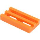 LEGO Orange Tile 1 x 2 Grille (with Bottom Groove) (2412)