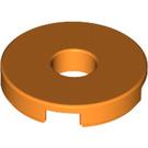 LEGO Orange Tile 2 x 2 Round with Hole in Center (15535)