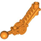 LEGO Orange Toa Arm 5 x 7 Bent with Ball Joint and Axle Joiner (32476)