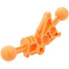 LEGO Orange Toa Leg 1 x 7 with 2 Ball Joints 30 Degrees (32482)