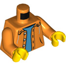 LEGO Unbuttoned Jacket Torso With Blue Undershirt (76382)