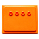 LEGO Orange Wall Plate (6836)