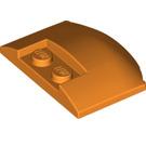 LEGO Orange Wedge 3 x 4 x 0.6 with Recess (93604)