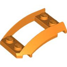 LEGO Orange Wedge 4 x 3 Curved with 2 x 2 Cutout (47755)