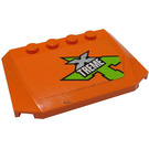 LEGO Orange Wedge 4 x 6 Curved with Lime, Silver and White 'XTREME' Sticker