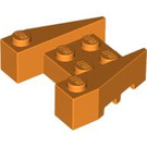 LEGO Orange Wedge Brick 3 x 4 with Stud Notches (50373)