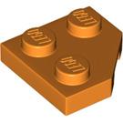 LEGO Orange Wedge Plate 2 x 2 (45º) (26601)