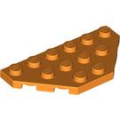 LEGO Orange Wedge Plate 3 x 6 with 45º Corners (2419)