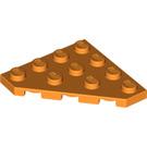 LEGO Orange Wedge Plate 45° 4 x 4 (30503)