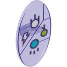 LEGO Oval Shield with Lightning and Electricity Symbols (23725 / 34943)