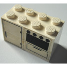 LEGO Oven and Fridge Stickered Assembly