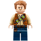 LEGO Owen Grady with Lime Flasks on Torso and Blue Legs Minifigure