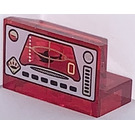 LEGO Panel 1 x 2 x 1 with Underwater Control Panel Decoration without Rounded Corners (4865)