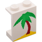 LEGO Panel 1 x 2 x 2 with Palm Tree & Sand Decoration without Side Supports, Solid Studs (4864)