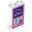 LEGO Panel 1 x 2 x 3 with Heart and paw  with Side Supports - Hollow Studs (26241 / 74968)