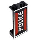 LEGO Panel 1 x 2 x 3 with Space Police I logo left side without Side Supports, Solid Studs (2362)