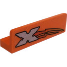 LEGO Panel 1 x 4 x 1 with Rounded Corners with Xtreme Logo (Left) Sticker (15207)