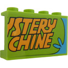 "LEGO Panel 1 x 4 x 2 with ""STERY"" and ""CHINE"" Sticker (14718)"
