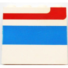 LEGO Panel 1 x 4 x 3 Left with Red/Blue Stripe without Side Supports, Solid Studs (4215)