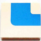 LEGO Panel 1 x 4 x 3 Right with Blue Stripe without Side Supports, Solid Studs (4215)