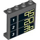 LEGO Panel 1 x 4 x 3 with 1 90, 2 26, 3 36. with Side Supports, Hollow Studs (33366 / 60581)