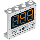LEGO Panel 1 x 4 x 3 with '193 YOUR SPEED' with Side Supports, Hollow Studs (33641 / 60581)