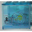 LEGO Panel 1 x 4 x 3 with Aqua Raiders II Sticker (4215 / 30007)