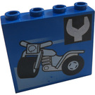 LEGO Panel 1 x 4 x 3 with Decoration without Side Supports, Hollow Studs (4215)