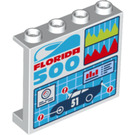 LEGO Panel 1 x 4 x 3 with 'Florida 500' race car 51 with Side Supports, Hollow Studs (33888 / 60581)