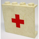 LEGO Panel 1 x 4 x 3 with Red Cross without Side Supports, Solid Studs (4215)