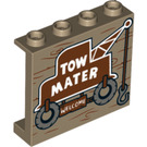 LEGO Panel 1 x 4 x 3 with Tow Mater Truck Welcome sign with Side Supports, Hollow Studs (33530 / 60581)