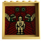 LEGO Panel 1 x 6 x 5 with Skeleton and snakes on dk red background (59349)