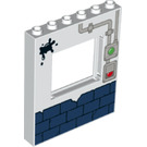 LEGO Panel 1 x 6 x 6 with Window Cutout with Brick Wall (15627 / 33705)