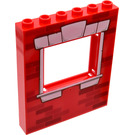 LEGO Panel 1 x 6 x 6 with Window Cutout with Bricks and White Window Frame (15627 / 17666)