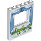 LEGO Panel 1 x 6 x 6 with Window Cutout with Decoration (15627 / 25069)