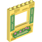 LEGO Panel 1 x 6 x 6 with Window Cutout with Green shutters (15627 / 21443)