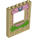 LEGO Panel 1 x 6 x 6 with Window Cutout with Horseshoe Decoration (16225)