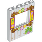 LEGO Panel 1 x 6 x 6 with Window Cutout with Wooden shack frame (15627 / 29486)